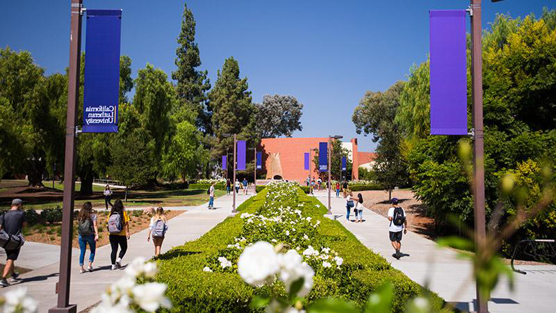 Looking along Regals Way through our main campus in Thousand Oaks.